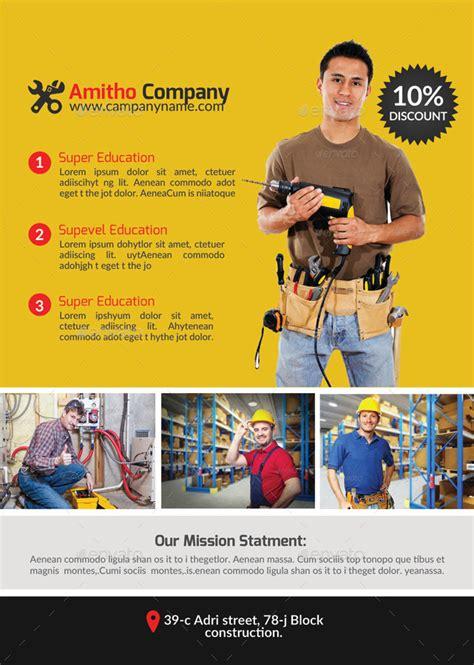 best free service handyman plumber services flyer bundle by designhub719
