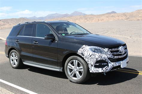 2015 mercedes m class thinly disguised 2015 mercedes m class facelift testing in