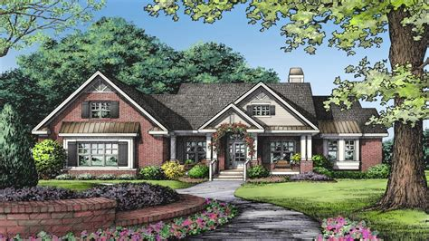 Rancher House Plans One Story Brick Ranch House Plans One Story Ranch Style 1 Story House Plans With Basement