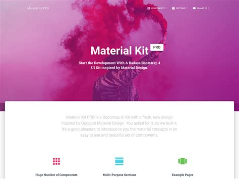 material design google kit material kit pro bootstrap 4 material design ui