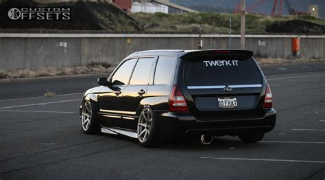 Wheel Offset 2004 Subaru Forester Flush Bagged