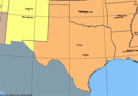 time zone map texas time zones in texas time genie s encyclopedia