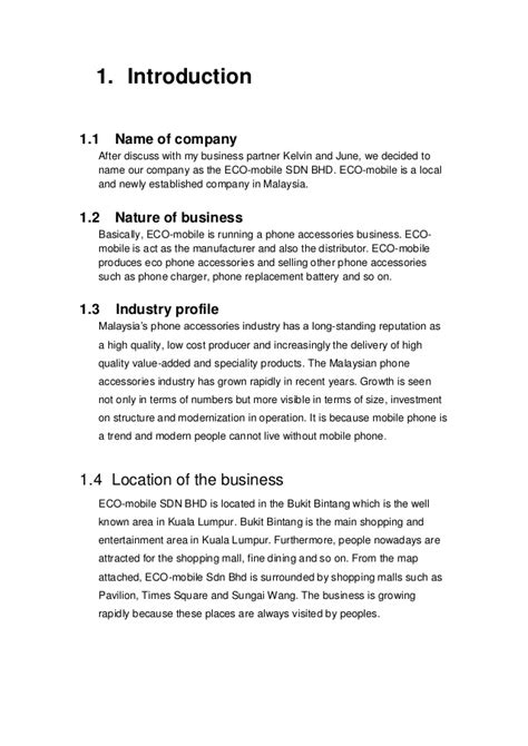 design proposal introduction introduction to business project 1 business proposal