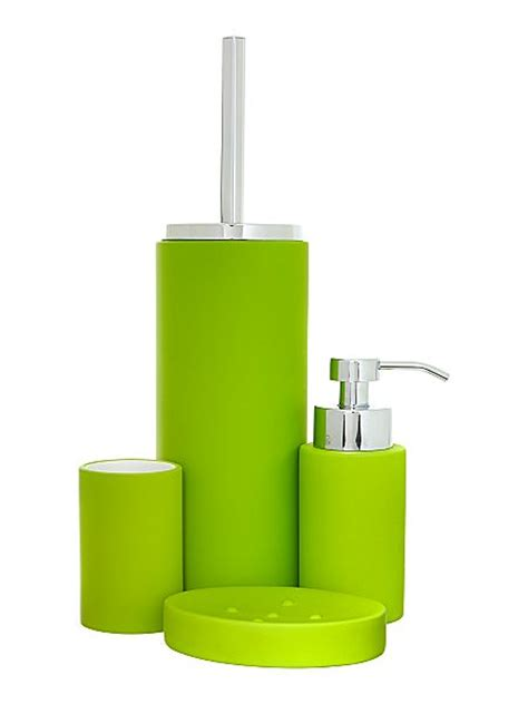 Linea Soft Touch Bath Accessories In Lime House Of Fraser Lime Green Bathroom Accessories