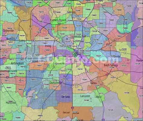 richardson texas zip code map dallas zip codes dallas county zip code boundary map