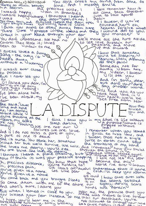 A Letter Dispute Lyrics 249 Best Images About How Senseless How Precious On Parks La Dispute