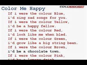 color for happiness color me happy rhyme