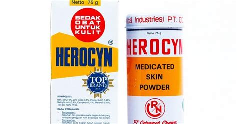 Bedak Salicyl Untuk Bayi khasiat bedak herocyn obat untuk kulit obat sakit
