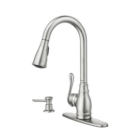 Lowes Kitchen Sinks And Faucets Kohler Fairfax Pull Out Kitchen Faucet Chrome Single Handle Faucets Lowe S Leow S And Kitchen