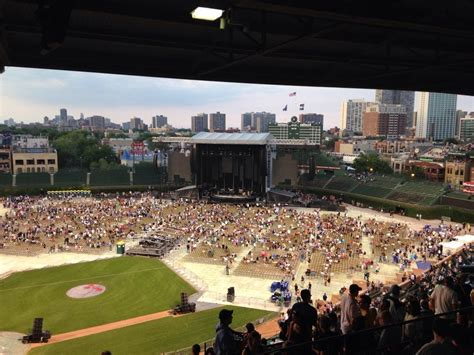 wrigley field concert seating wrigley field section 525 concert seating rateyourseats