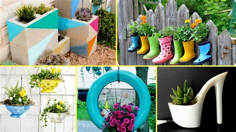 homemade flower pots ideas 50 creative garden flower pot ideas 2017 creative diy