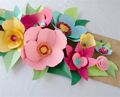 Make Flowers With Paper - how to make paper flowers project nursery