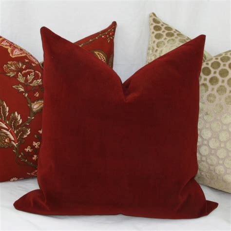 Burgundy Pillows Decorative by Burgundy Velvet Decorative Throw Pillow Cover Lumbar Pillow