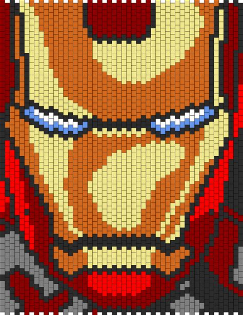 iron man bead pattern peyote bead patterns characters