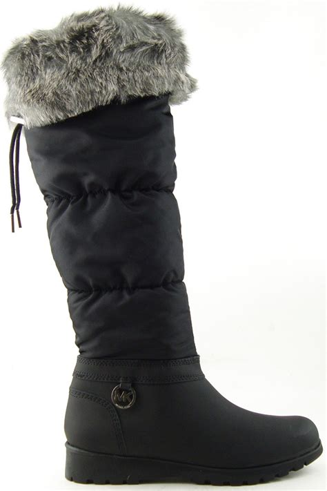 michael kors snow boots michael michael kors snow black fur cuff womens