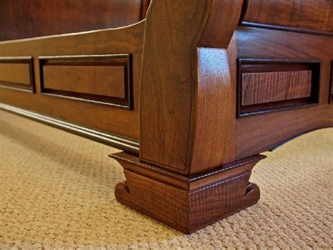 Handmade Sleigh Bed - custom handmade high end sleigh bed in walnut