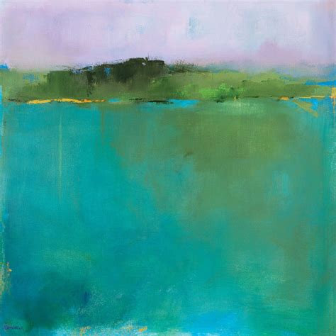 Abstract Landscape Uk Contemporary Abstract Landscape Giclee Print On Canvas
