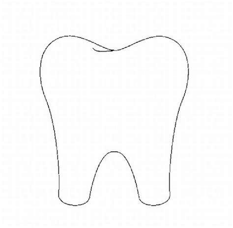 tooth templates free tooth outline clipart clipart suggest