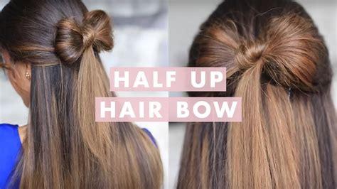 hair bow cute hair tutorial youtube