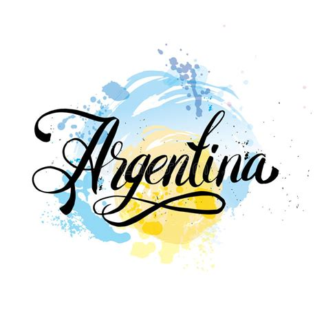 argentina colors argentina vintage card poster vector illustration