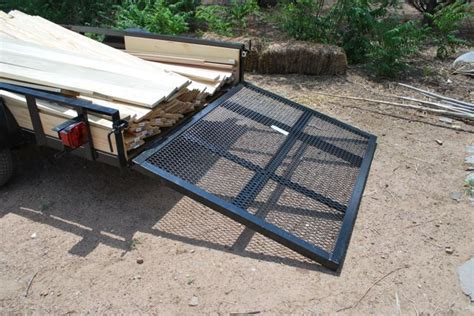 build wooden ramp  utility trailer