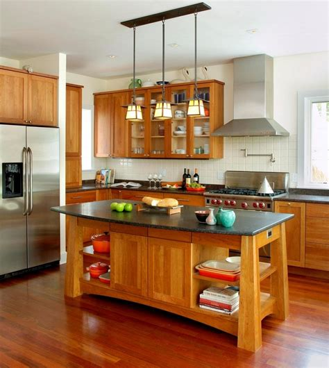 Rustic Kitchen Island With Extra Good Looking Accompaniment Island Design Kitchen