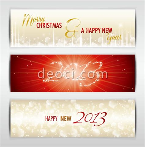 new year email banner 3 happy new year 2013 vector website banner background