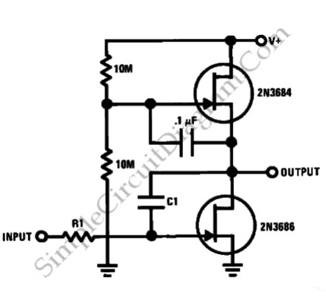 integrator circuit uses jfet ac coupled integrator simple circuit diagram
