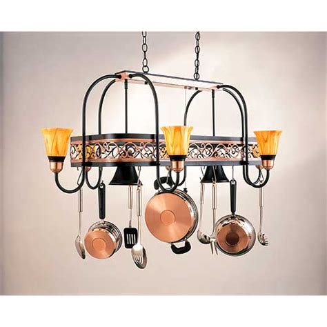 Kitchen Pot Hanger With Lights 486h12ydbk0124saturnyellow