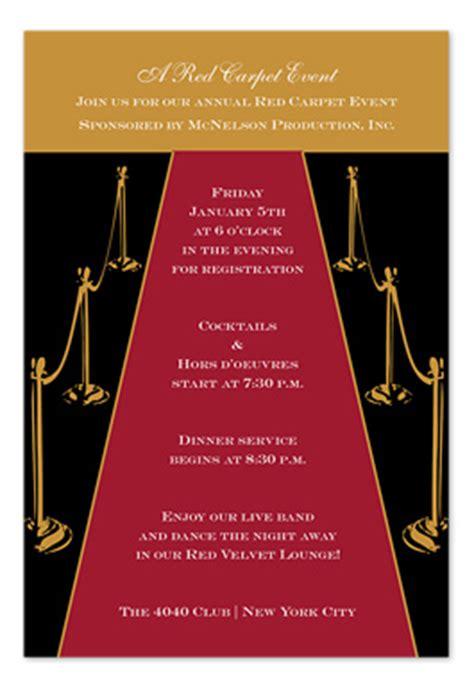 gold red carpet birthday invitations  invitation
