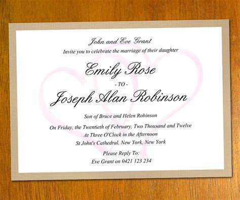 invitation formats templates wedding invitation templates 07wedwebtalks wedwebtalks