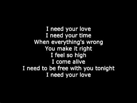 calvin harris i need your letra de canci 243 n song lyrics