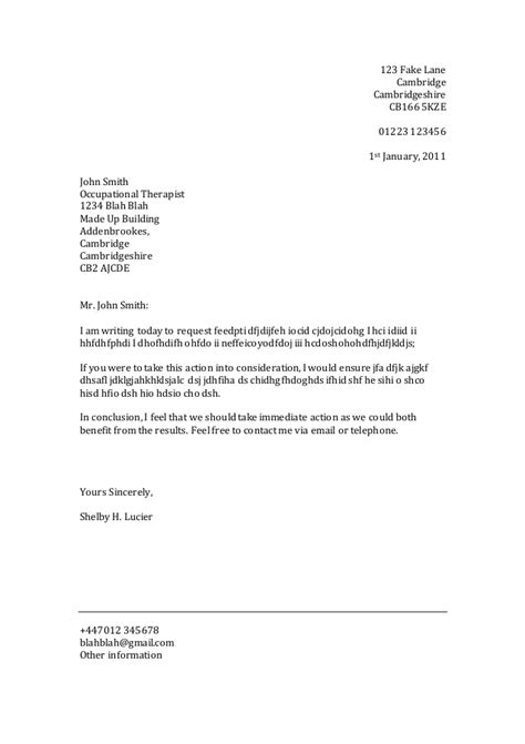 Formal Letter Of Template Formal Letter Template