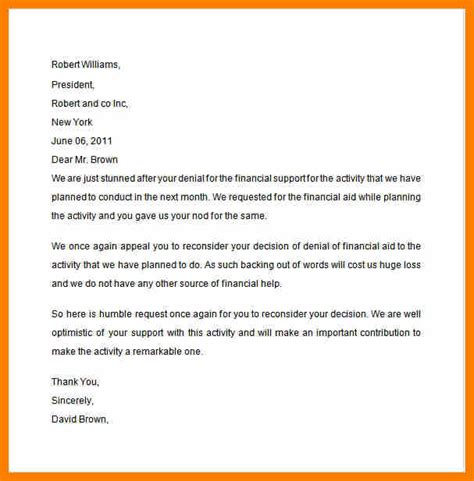 Mortgage Appeal Letter Template financial hardship letter template business