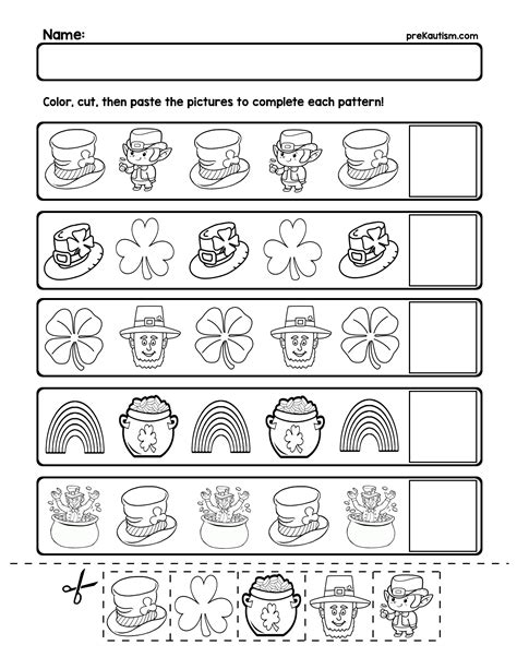 Pattern Day Kindergarten | free teach basic ab patterns with these color and fill