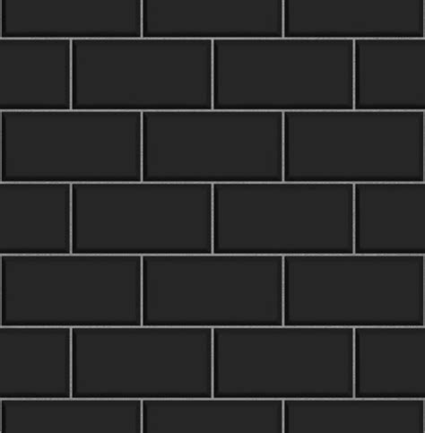 Removable Kitchen Backsplash ceramica black subway tile effect wallpaper contemporary