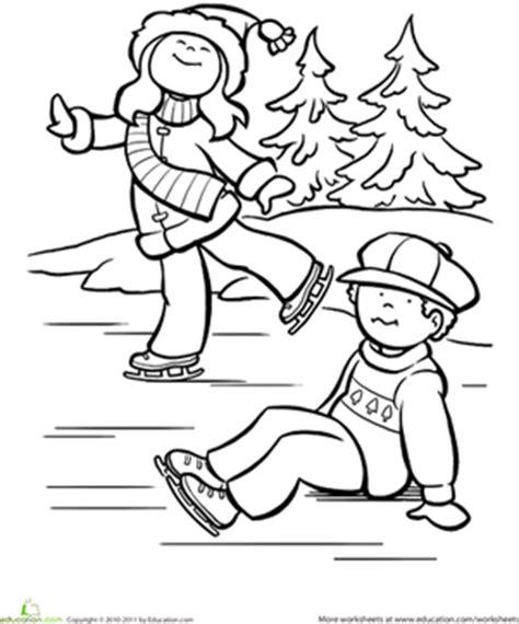 Ice Skating Worksheet Education Com Skating Coloring Pages