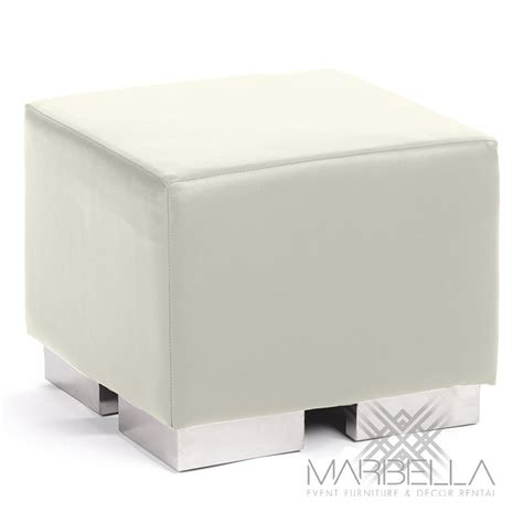 white cube ottoman mondrian ottoman marbella event furniture decor rental