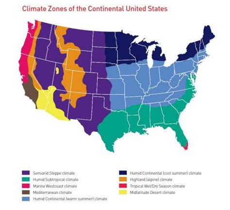 usa map climate zones us weather
