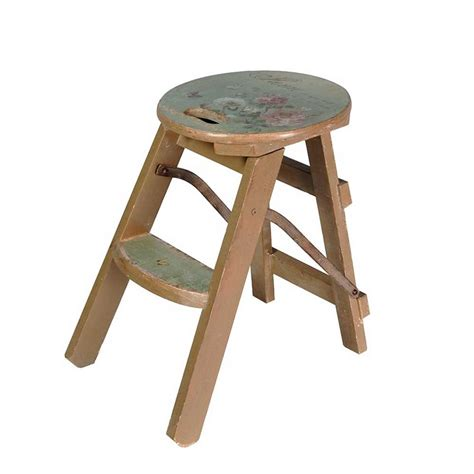 Small Stools by Small Floral Decorated Step Stool
