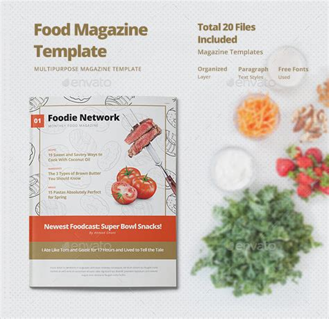 photoshop magazine template food magazine template 23 psd ai eps vector format