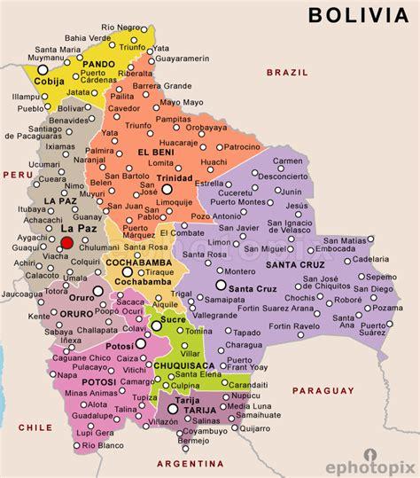 bolivia political map bolivias map
