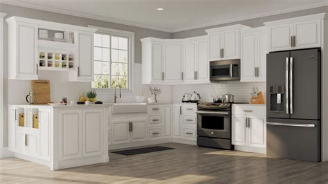 hton base cabinets in white kitchen the home depot