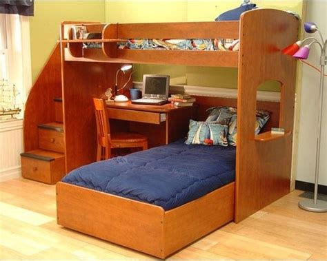 L Shaped Bunk Beds With Storage Utica L Shaped Bunk Bed With Desk And Storage Modern Beds By Wayfair