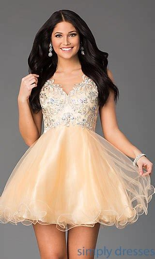 Dress Viera Simply gold cocktail gold homecoming dresses