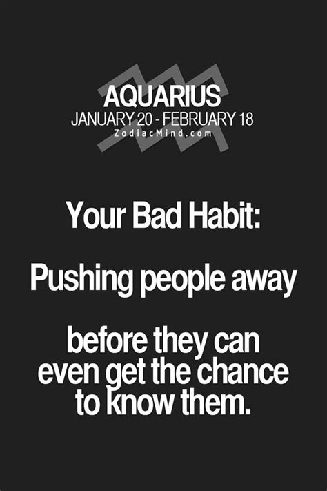 aquarius bad habit aquarius pinterest bad habits