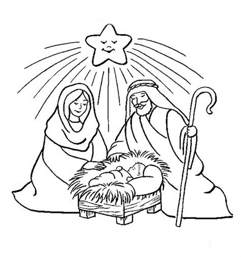 jesus birth coloring pages to print navidad pesebres im 225 genes on pinterest nativity holy