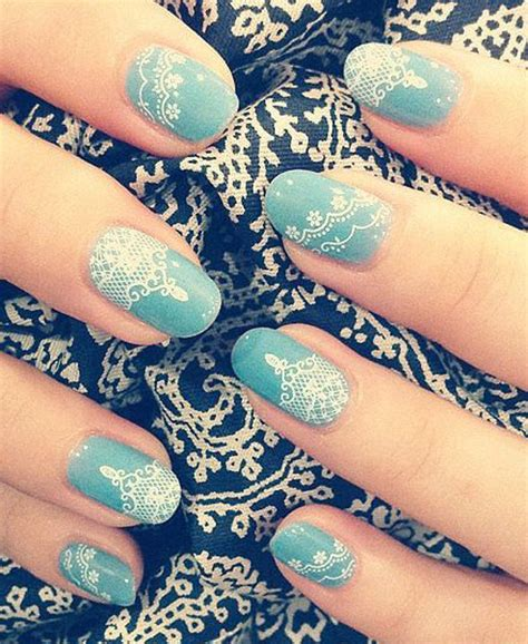 lace pattern nail art 50 famous lace nail art collection golfian com