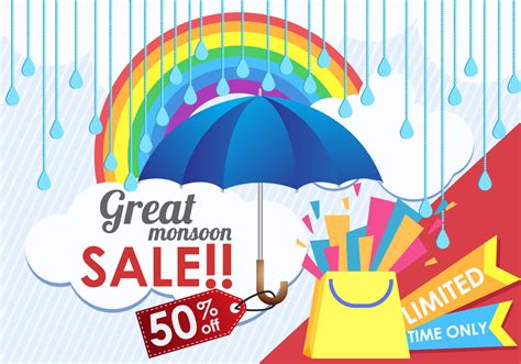 great mansoon sale free vector stock graphics images