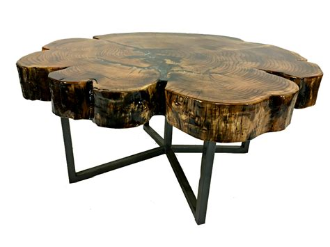 solid cypress coffee table  inlay